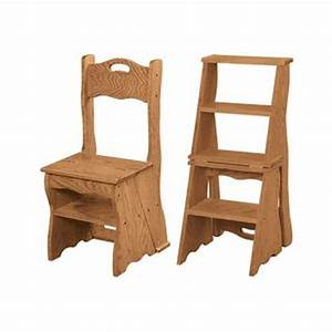 Folding step stool plans, wooden library step stool chair
