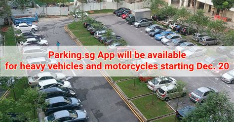 Parking.sg App Will Be Available For Heavy Vehicles And