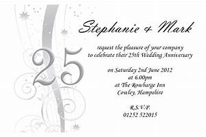 anniversary invitation invitation templates With free printable silver wedding anniversary invitations