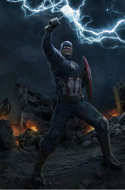 Captain Endgame Thor America Hammer Avengers Iphone