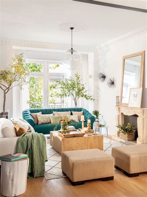 sofa verde para salon salon blanco con chimenea y un sofa verde en 2018