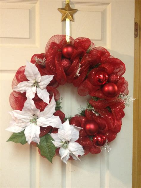 christmas wreath made with sinamay ribbon by ktkat42 on