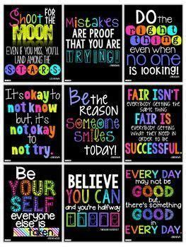 motivational posters growth mindset posters classroom