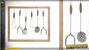 cadre deco murale en bois et metal cuisine d39autrefois With deco cadre cuisine
