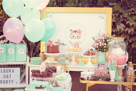 Kara's Party Ideas Whimsical Shabby Chic Cat Themed