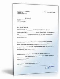 Einverständniserklärung Eltern Arbeit : entschuldigung verhalten kind muster zum download ~ Haus.voiturepedia.club Haus und Dekorationen