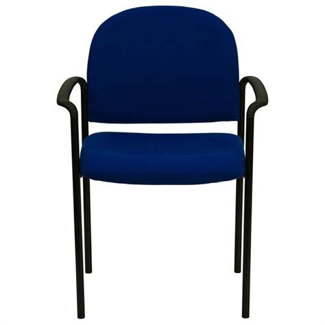 flash furniture stackable side chair in navy blue 465558
