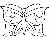 Butterfly Coloring Simple Colorings Pages Drawing Getdrawings sketch template