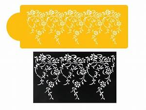 lace templates for cakes - large vintage lace cake side stencil