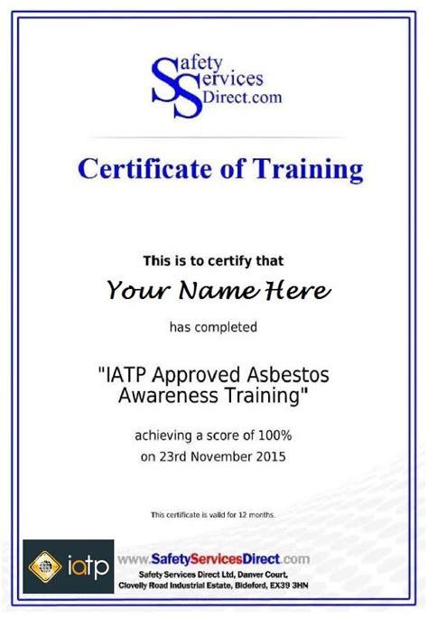 iatp approved  asbestos awareness training