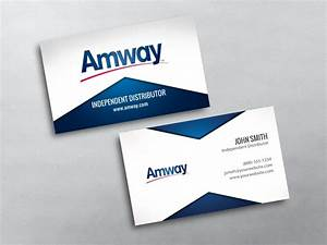Amway business cards free shipping for Amway business card template