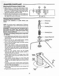 Craftsman 113225705 User Manual Oscillating Spindle Sander