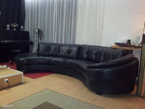 canape en cuir noir canapé en cuir noir demi rond igopher fr