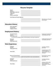 printable free resume builder resume exle free printable resume builder free resume templates free printable resume