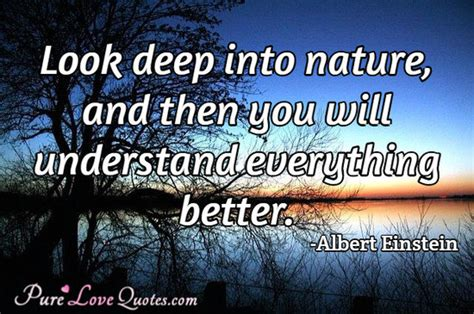 Look Deep Into Nature, And Then You Will Understand