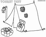 Tent Coloring Pages Coloringway sketch template