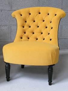 Petit Fauteuil Jaune : fauteuil crapaud vanessa camisuli ~ Teatrodelosmanantiales.com Idées de Décoration
