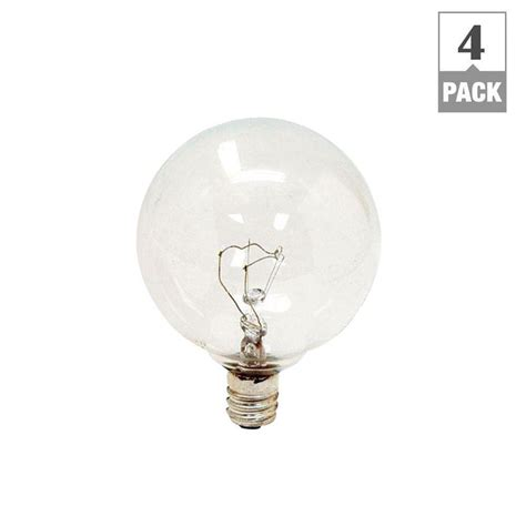 home depot lava l bulb ge 25 watt incandescent g16 5 globe candelabra base clear