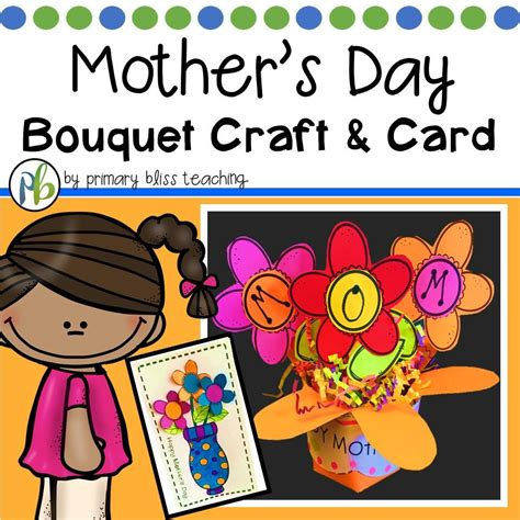 s day card craft mothers day gift 3d bouquet craft and card primary bliss 4997