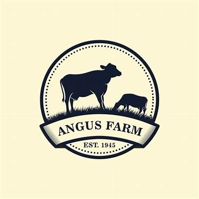 Farm Cow Angus Vector Milk Template Templates