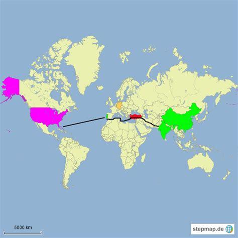 StepMap - Kolumbus' Entdeckung Amerikas - Landkarte für ...