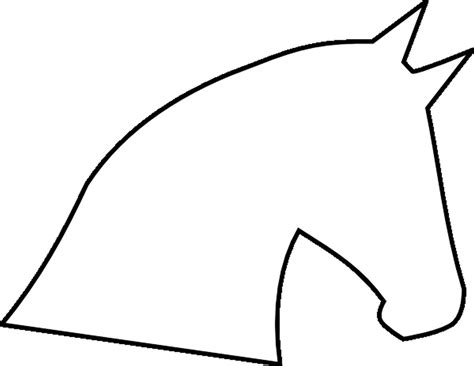horse head outline template click