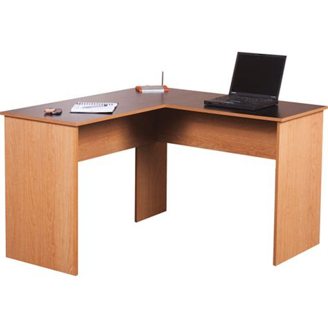 table with built in l walmart orion l desk black and oak walmart com
