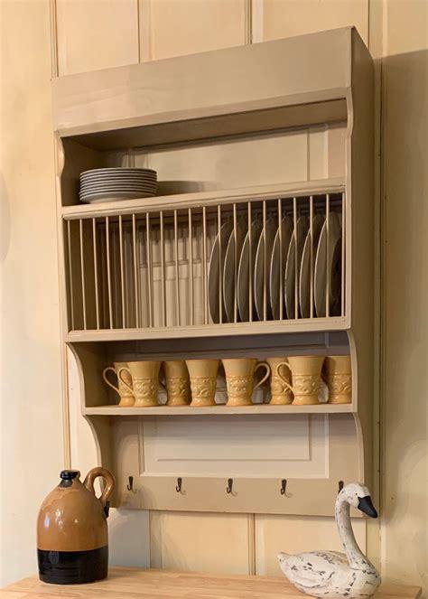 customize  large wood wall mounted farmhouse plate rack etsy   plate racks plate