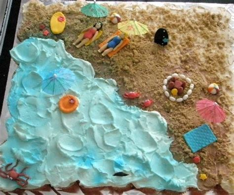 funfavors  beach party pull  cake