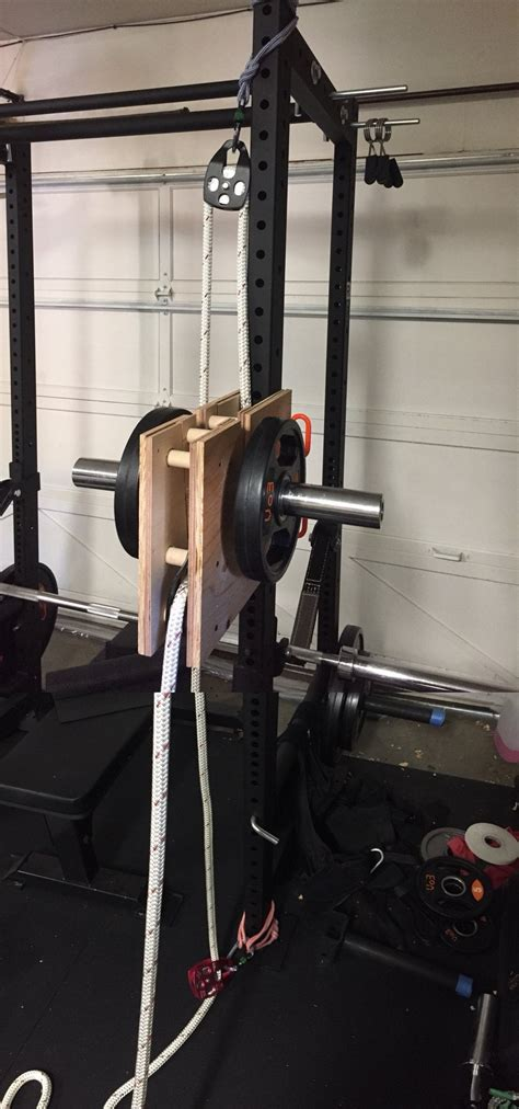 diy plate loaded multi directional endless rope pull homegym