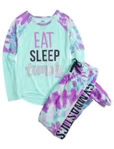 Walmart Christmas Bathroom Sets by Gymnast Fleece Footed Pajama Set Girls From Justice Aysia