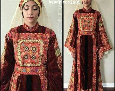 palestinian wedding dress traditional costume embroidery
