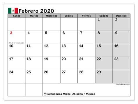 calendario febrero mexico michel zbinden es