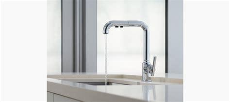 kohler purist primary pullout kitchen faucet standard plumbing supply product kohler k 7505 bl