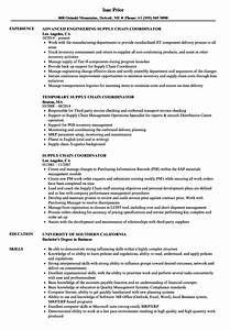 Supply chain coordinator resume samples velvet jobs for Supply chain coordinator resume sample