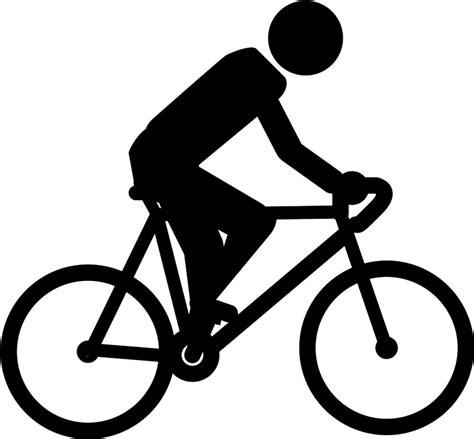 [無料イラスト] サイクリングする人物のピクトグラム - パブリックドメインQ:著作権フリー画像素材集