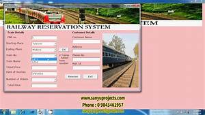 Railway Reservation System Vb 6 0 Student Project