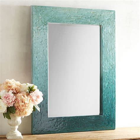 blue ombre mother  pearl mirror  turquoise