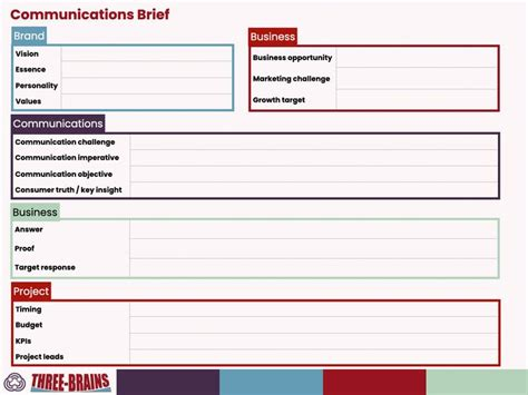 Communication Brief Template Communication Brief Templates