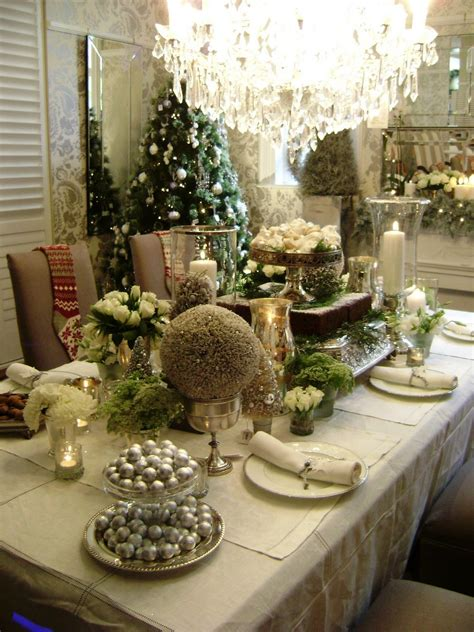 christmas table decorations elegant holiday table