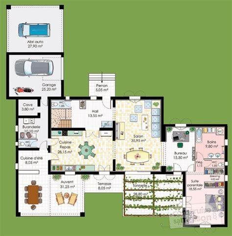 plan bureau d angle maison de caractère dé du plan de maison de