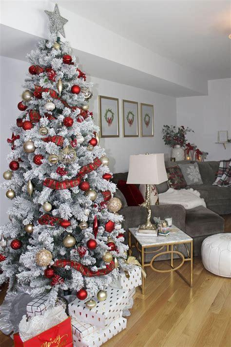 unique flocked christmas trees ideas  pinterest