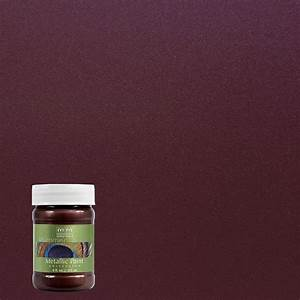 Modern masters 6 oz black cherry metallic interior for Home depot metallic furniture paint