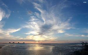 Amazing Ocean Horizon Sunset Wallpapers