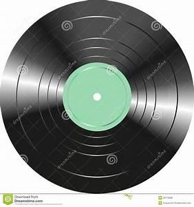 Vintage Vinyl Record Isolated On White Background Stock ...