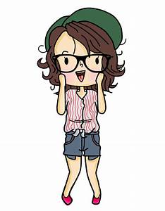 Hipster Girl Cartoon Tumblr | www.imgkid.com - The Image ...