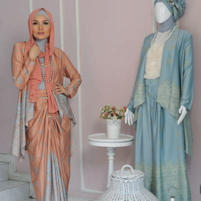 gaun pesta muslim tutorial hijab