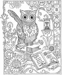 Owl Abstract Doodle Zentangle Coloring pages colouring ...