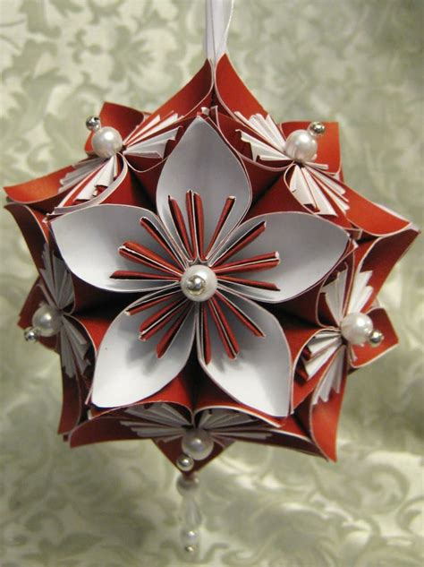 diy kusudama flower ornament christmas pinterest