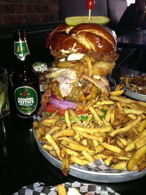 kitchen sink burger kenzington kitchen sink burger foodchallenges 2598